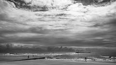 Jetty- (markitos57) Tags: beach wilmington wrightsville north carolina cape fear river landscapes urban jetty uss nc battleship riverwalk riverfront brunswick atlantic ocean clouds