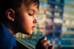 Waiting (Noval Goya) Tags: window waiting home child mirrored light frame full nikkor nikon photography colours d800 novalgoya fx portrait