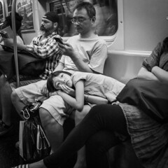 (FelixPagaimo) Tags: people kid thought think thinking lost comfort subway mta nyc ny new york city newyork newyorkcity felix pagaimo felixpagaimo street photography parenthood parent dad father
