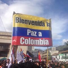 Bienvenida la paz a Colombia (carocampalans) Tags: instagramapp uploaded:by=instagram colombia bandera paz manifestacin