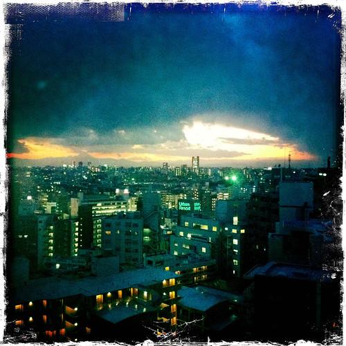 Today's mount fuji sunset from daikanyama