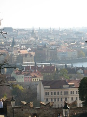 Beautiful city view of Prague (amazing_tina) Tags: city trees cold sunshine skyline fairytale buildings scenery prague spires branches churches medieval czechrepublic easterneurope cityview beautifulday pragueview hanschristian