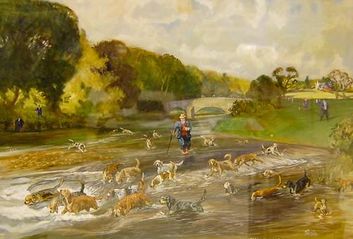 Hawkstone Otterhounds at Hoddam Bridge, by Tom Carr