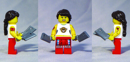 Custom minifig Chimp Chop custom lego minifigure