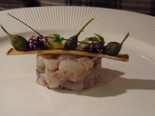 tartare de bar et huître
