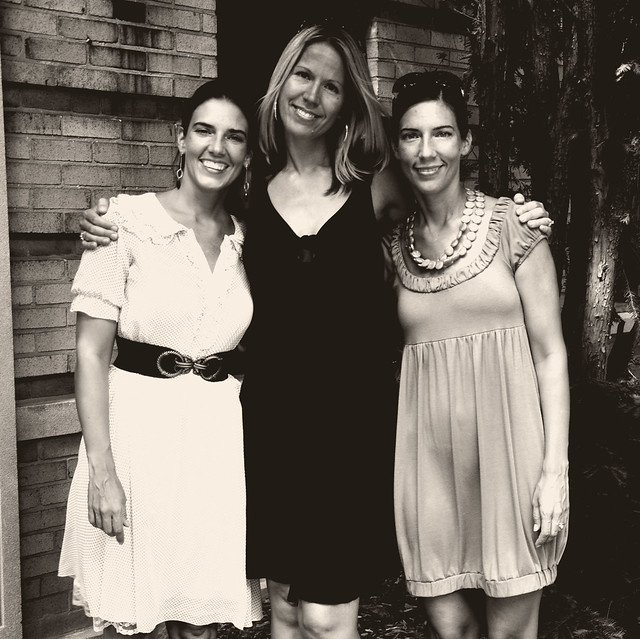 angela, jenny and me {black and white}