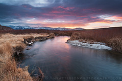 Owens River Valley Sunrise - Bishop, California (Jim Patterson Photography) Tags: california travel usa mountains nature field grass creek sunrise river landscape outdoors colorful scenic whitemountains valley bishop o