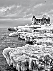 Ice Cold. Explored (Happyhiker4) Tags: lakemichigan frankfort pointbetsie coldasice