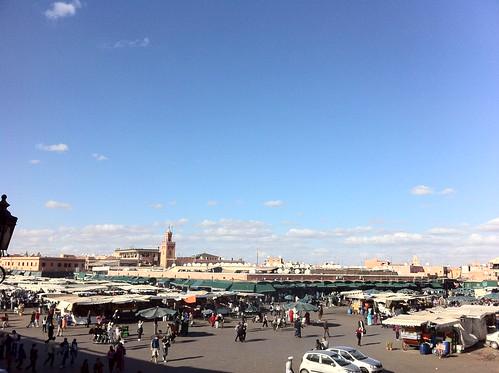 Djemaa el Fna in the afternoon