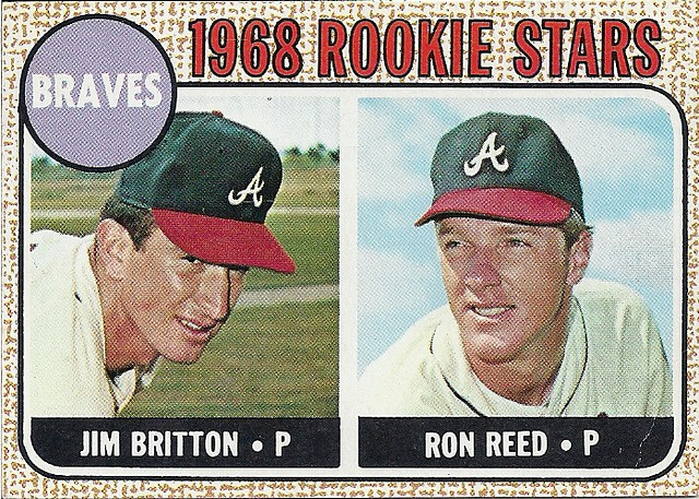 1968 Topps Britton Reed