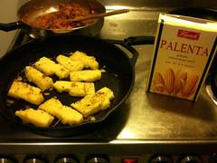 Homemade polenta