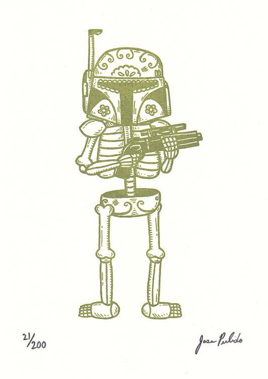 Star Wars Mexican Traditional Art - Boba Fett