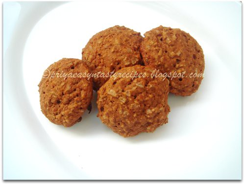Oats & Poha cookies (eggless & sugarless)