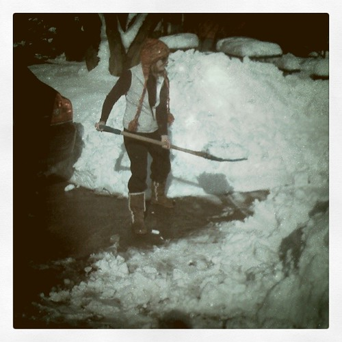 Jen and her shovel