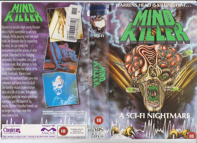 Mind Killer, 1987 (VHS Box Art)