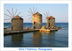 Windmills of Chios (CTPPIX.com) Tags: old trip travel sea summer vacation mer reflection building beach architecture canon island greek eos coast view urlaub aegean hellas windmills greece journey 7d gr ctp mills deniz 2010 chios griekenland milis griek hios hellenic greekisland xios sakiz grek yeldegirmeni chiostown khios christpehlivan ctppix sakizadasi xioy imiloi