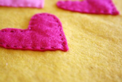 4 Hearts sewn