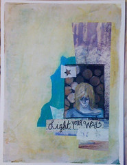 light your way (October Lee) Tags: collage artjournal paintover