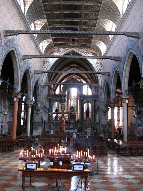 ヴェネツィアの教会のフリー写真素材