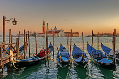 The Glow Of Love. (Andy Bracey -) Tags: venice sunset italy pier sundown gondola grandcanal pictureperfect blendedexposure moored bracey topshots nothdr worldwidelandscapes panoramafotografico absolutegoldenmasterpiece andybracey magicunicornverybest theoriginalgoldseal theglowoflove possiblythemostromanticcityintheworld