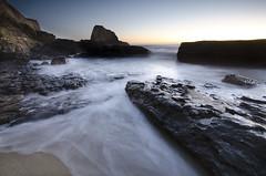 Hole In The Wall Beach - Davenport, CA (Sudheer.) Tags: california ca sunset seascape pacificocean davenport panther holeinthewall majors nikond7000 nikon1024mm