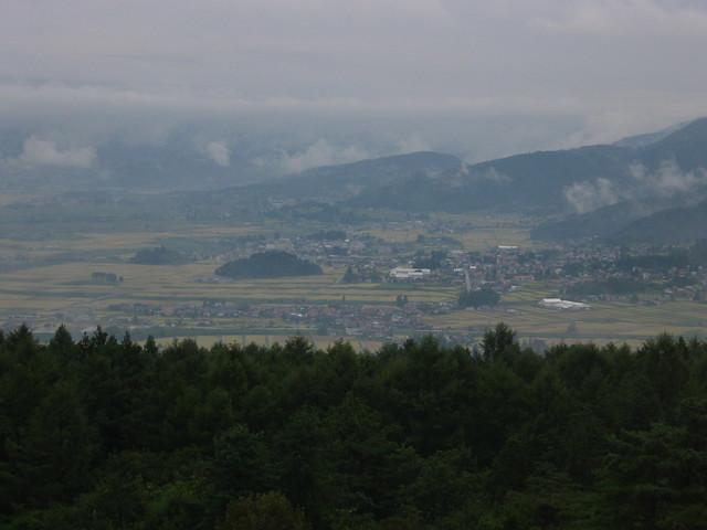 木島平の風景のフリー写真素材