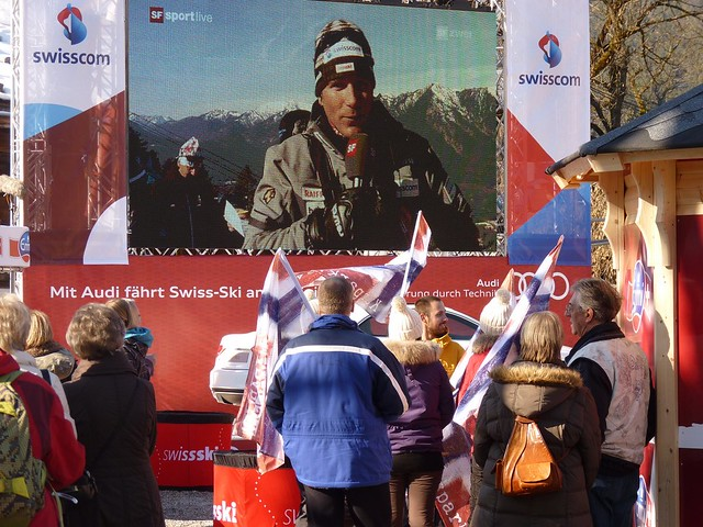 Public Viewing auf dem Mohrenplatz: Ski-WM 2011 - Tag 2