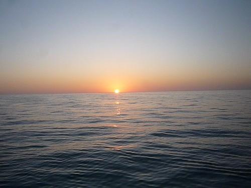 Sunset on the Bahama Bank