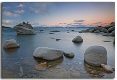 Good Morning Bonsai Rock, Lake Tahoe (M. Shaw) Tags: longexposure cliff reflection nature water sunrise tahoe laketahoe ndfilter 1635mmf28l canoneos5dmarkii mshaw bonsairock 5dmark2