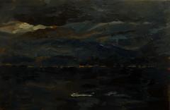 Nocturne: the night sky (tadeusz deręgowski) Tags: floripa brazil art brasil architecture painting florianopolis expressionist santacatarina nocturne impressionist oilpainting pintura smallpainting pochade mpressionist