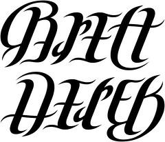"""""""Brett"""" & """"Derek"""" Ambigram"""