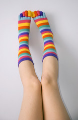 Lábtyű #3 / Socks #3 (v.maxi) Tags: pink blue orange woman hot cute sexy feet colors girl yellow socks lady female d50 foot rainbow nikon colorful purple angle legs sweet teen bow pies pés multicolored knee piedi striped bunt fuss beine rainbowsocks gestreift socke patri lány zokni lábtyű színes flickraward csíkos nikonflickraward