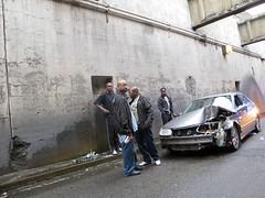 (MattMattMattMattMatt) Tags: new morning color car digital four jerseycity crash rally tunnel jersey audi canong11