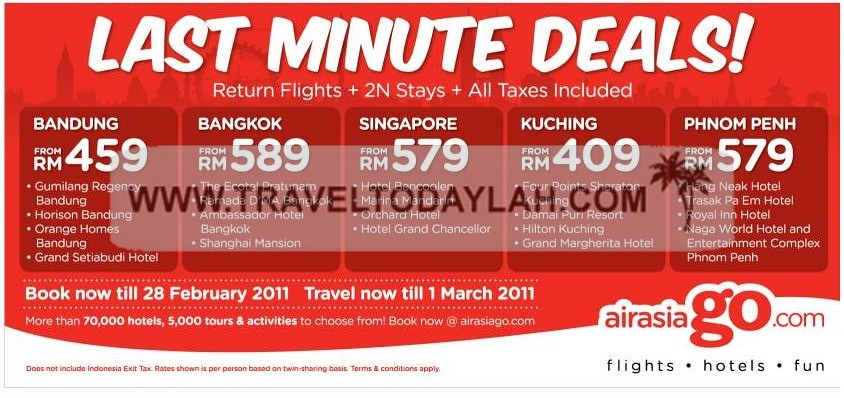 Airasia travel deals