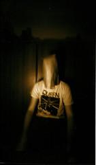 Queen Fan (Ryan Duffy2009) Tags: camera portrait blackandwhite bw white selfportrait abstract black 120 film sepia analog self vintage moody image trix pinhole mo iso missouri mysterious 6x9 dreamy toned zero tone zeroimage zeroimage6x9