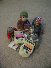 Awesome Aussie pressies (A2 Lebowsky) Tags: monkey george noel plush rhino nigel gund flickrfriendsrock