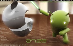 android warrior (jeenyice) Tags: desktop wallpaper apple macosx android geektool lightsabre