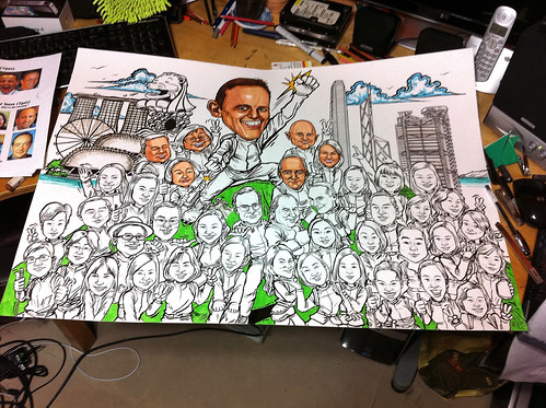 Group caricatures for UBS - 10