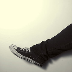 Skinny Lads, 163/365 (domclark) Tags: portrait black umbrella self canon stars skinny all dom flash jeans converse clark l 5d 365 usm speedlight 1740 550ex mk strobe drainpipes mk1 strobist domclark
