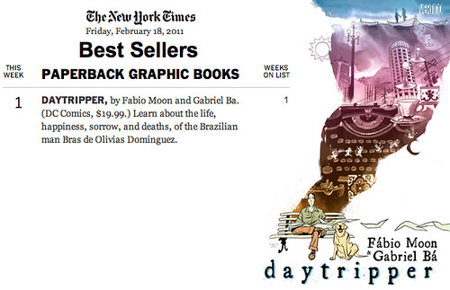 Daytripper #1 on NYT best seller list