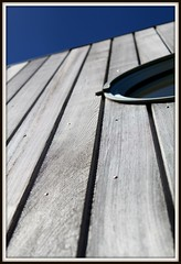 Raw Lines (Verity_W) Tags: wood blue newzealand sky brown building lines raw bokeh circles devonport aucklandnz