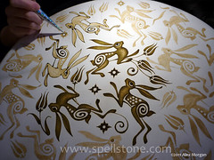 Bunny_working1 (Spellstone) Tags: rabbit bunny art drums design artist folkart pattern drum drawing surfacedesign tulip henna turkish yearoftherabbit framedrum goatskin hennaart patterndesign alexmorgan hennapage hennadrum spellstone hennaeddrum