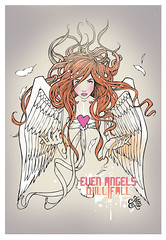 Even angels will fall (lynxeffect) Tags: led angels fallen kelly brook miss excite lynx deodorant antiperspirant