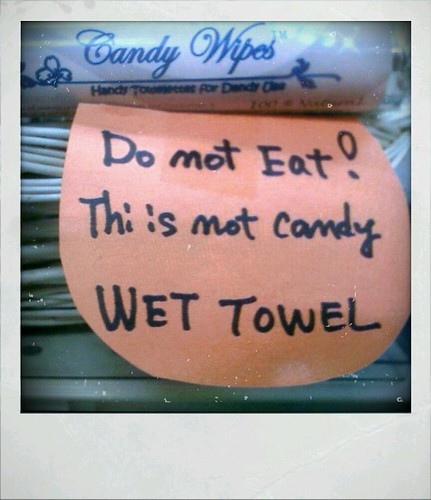 Please don't eat wet towels