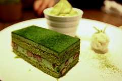 matcha cake and red bean (greentealover79) Tags: travel japan asia gettyimageswant gettyvacation2010 gettyimagesjapanq1 gettyimagesjapan