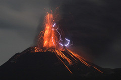 Eruption lightning (hshdude) Tags: indonesia lava ash lightning volcanoes eruption krakatau