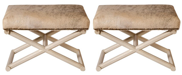 X Based Hair on Hide stools $1790