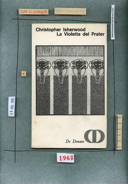 Christopher Isherwood, La violetta del Prater, De Donato 1968. Copertina