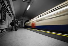 Tube (Michele Lazzarini) Tags: bw london underground tube selective