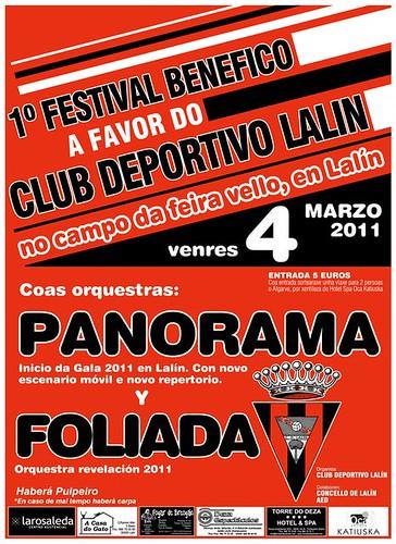 Lalín 2011 - Festival benéfico - cartel